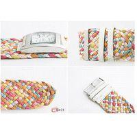 analog talking watch - car Color Braided Plaited Rope Strap Wrap Quartz Lady Wrist Watch S7NF quartz talking watch quartz battery watch