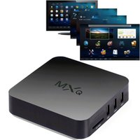 Wholesale DHL Free shiping MXQ Smart TV Box Player Android Amlogic S805 Quad Core Multimedia Player H G GB TV Player