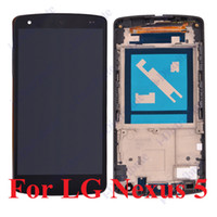 Wholesale 1PC For LG Optimus LG Nexus nexus5 LCD Display Touch Screen Digitizer Full Assembly Replacement