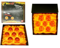 Wholesale 4 CM New In Box DragonBall Stars Crystal Ball Set of Dragon Ball Z Balls Complete set Free sgipping A