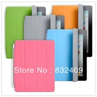 Wholesale Various Colors High Quality Folding PU Leather Smart Cover Case For IPAD