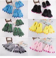 Wholesale 100 Brand New Official cartoon cotton slippers cosplay animals claws shoe house shoes cotton slippers love apartment Leotard Adult Child