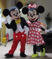 Disfraces Nueva Mickey Mouse Minnie mascota del tamaño del vestido de lujo para adultos Disfraces Mickey Mouse Minnie de la historieta de la mascota de Adultos