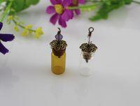Cheap 20PCS 22x11MM Mini Vials With Metal Corks,glass bottles,DIY Bottles cork stopper (mini miniature)