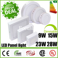 Wholesale Dimmable Surface Mounted W W W W Round Square LED Panel Lights CREE Downlights Fixture Recessed Ceiling Down Lights Warranty years