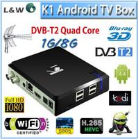 Wholesale K1 T2 Android TV Box DVB T2 Terrestrial TV Receiver K1 T2 DVB T2 Amlogic S805 Quad Core GB GB KODI Smart HD WiFi PC