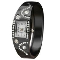 auto simplicity - Attractive Luxury Fashion Modern New Stylish Simplicity Alloy Diamond Bracelet Ms Dinner Quartz Watch SP22