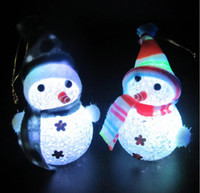 beautiful bedroom colors - Seven Colors Light Up Christmas Snowman Doll Beautiful Christmas Gift for Kids Childrens Christmas Toys Children Bedroom Christmas Deco
