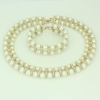asian bridals - Fashion white pearl jewelry sets top quality wedding jewelry sets for bridals gift jewelry sets for wives mothers girlfriend