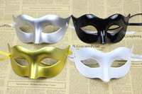 Wholesale New party masks Lovely Mardi Gras masks Fancy festive and party supplies Half face solid color plastic Drop shipping Hot sale