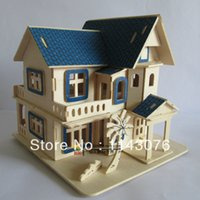 beach house villas - wooden DIY d puzzle handmade assembling model toy Sunshine beach villa house puzzle