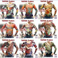 Wholesale 2015 NEW Men s Tattoo T shirt Women breathability Long Sleeve T shirt Simulation Tattoo Creative Clothing