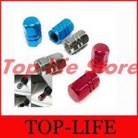 Wholesale Good Quality Aluminum Air Valve Cover Cap Red For Tire Stem Wheel Rim Tyre All Car Universal