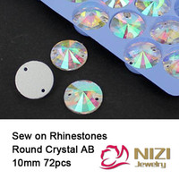 Wholesale Rhinestones mm Crystal AB Flatback Sew On Rhinestones Garment Accessories High Quality Strass Sewing Rhinestones