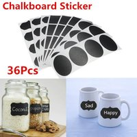 Wholesale 36x Chalk Pen Modern kitchen Organizing Chalkboard Blackboard Labels Chalk Board Vinyl Kitchen Jar Stickers Craft x3 A5