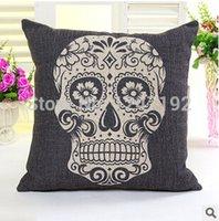 Cheap Free Shipping! New boston terrier decorative throw pillows almofadas case for sofa car bed 45x45 skull cushion cover home decore