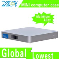 Wholesale Fanless Design X Y mini itx case Htpc mini itx box small computer case Support MIC