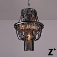 Wholesale Industrial Vintage Bicycle Chain Wheel Rim Edison Bulb Chandelier x E27