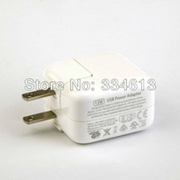 Cheap Wholesale-10pcs lot White US USB Wall Charger Adapter 12W 2.4A 100-240V for Apple ipad 1 2 3 Mini Free shipping