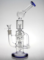 Wholesale hitman bongs Cyclone Helix water pipe Such an intricate double Recycler glass bong helix perc Mothersh bong oil rig perculator rig sofig