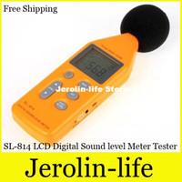 Wholesale Sl 814 - Free Shipping SL-814 LCD Display Digital Sound level Meter Tester Sound Noise level Gauge 30-130dB Decibel