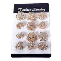 brooch rhinestone - Women Fashion Flower Gold Plated Pearl Brooch Rhinestone Women Brooch Pins For Wedding