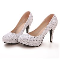 Cheap Luxury Bride Wedding Shoes High-heeled Lady Shoes Nightclub Prom Dresses Shoes Z239-Silver