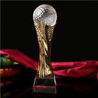 baseball events - high quality football basketball crystal gold trophy cup carve name for sports event a small size