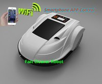 Wholesale NEWEST Robot Automatic Lawn Mower S510 Which can be Controlled by Smartphone Phone Accepted the IOS and Android System