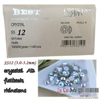 Wholesale show deal SS12 mm crystal AB silver plated Flat Back Non Hotfix glue on nail art beads
