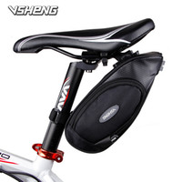 Wholesale New High quality PU D Oxford Bike Tail Bag Bicycle Saddle Bag Back Seat Tail Pouch Cycling Equipment Bicycle Accessories