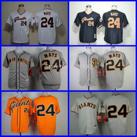 arrival san francisco - 2016 New NEW Arrival San Francisco Giants Jersey Willie Mays Gray SF Throwback White Black Baseball Jersey Cheap