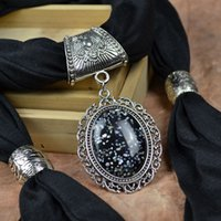 Wholesale Starry Sky gem pendant scarf Jewelry scarf necklace scarves