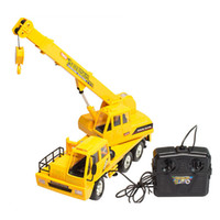 Wholesale 2015 New Coming Channels Engineering Hoist Wheel Truck Crane With Hook Remote Control Simulation Crane Toys
