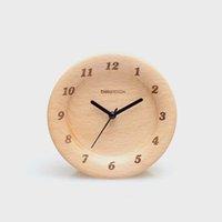 beech wall clock - 4 inch Beech Wood Wall Clock with Wax Oil Finishe