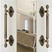 antique door fittings - 420mm vintage big gate door handles bronze glass door handles antique brass wood door pulls Europe style door handles fittings