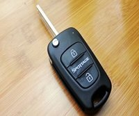 Wholesale New Keyless Entry Uncut Blank Folding Flip Remote Fob Key Case Cover Shell for Kia Sportage Button