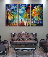 Cheap 3 Panels Landscape Oil Painting Canvas print Wall Art Picture Home Decoration Living Room Canvas Print Modern Painting PZ1002
