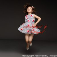 baby clothing shops - Pettigirl Retail Girls Dress Gray Chiffon Dress With Red Rose Flower Girls Party Princess Dress Baby Girls Clothes Drop Shopping GD31115