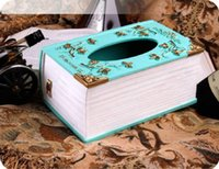 Wholesale Hot SaleTissue Boxes Napkin Bag Resin Creative Tissue Sculpture Tissue Box Royal Home Decoration