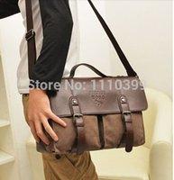 Wholesale New men messenger bags leather handbags canvas solid vintage bag for zipper travel bags casual bag men
