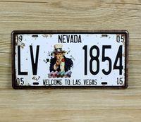 Wholesale Uncle Sam retro license plate Tin Sign Vintage Metal Painting Tin Plate cafe bar pub garage KTV Wall Decoration Home Decor Art