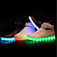 pvc manufacturers - Manufacturers leisure sports lED light shoes USB charging noctilucent