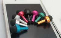 Wholesale 100pcs in Headphone Dust Plug Mini Stylus Touch Pen for iPhone samsung iPad hot sale