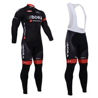Wholesale Bora Argon Winter Cycling Jersey Long Sleeve Thermal Fleece Bike Clothes and Bib Pants Suit for Men Outdoor Cycling Clothing