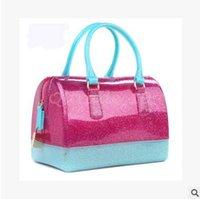 silicone handbags - 100pcs CCA3097 High Quality Women Ladies Jelly Handbag Silicone Furly Jelly Handbag Famous Brand Bag Candy Color Bags Purses Bolsas Totes