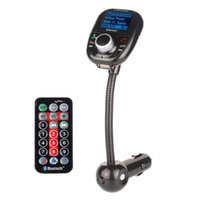 Wholesale New LCD Screen Stereo Bluetooth Handsfree MP3 Player Auto FM Transmitter Bluetooth Car kit In Car Speakerphone Support USB MMC SD TF