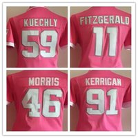 alfred pink - Factory Outlet Alfred Morris Ryan Kerrigan Luke Kuechly Larry Fitzgerald Embroidery Logos Women Pink Bubble Gum Football Jersey