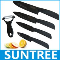 kitchen knives set - Zirconia ceramic knife black blade black handle quot quot quot quot inch Peeler covers knife set kitchen knives