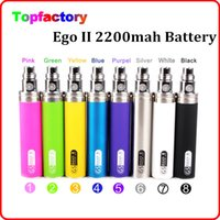 Wholesale 2200mAh eGo KGO II KGO ONE WEEK mah battery ego thread electronic cigarette CE4 protank MT3 Nautilus Atomizer VS vision battery
